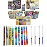 Playoly Pokemon Ultra Rare & Secret Rare Guaranteed with Foil - Rare Pokemon Cards - Booster Pack - 12 Pokemon Inspired Pencils