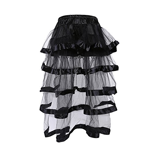 Black Lace Party Dress with Corset for Cosplay Skirt for Girls Size M