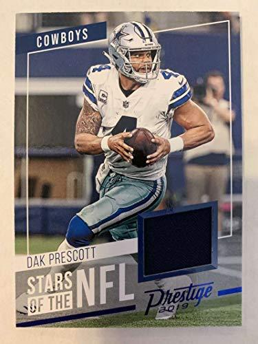2019 Prestige Stars of the NFL Xtra Points Blue Jersey MEM #17 Dak Prescott Dallas Cowboys Official Panini Football Trading Card from 2017 Prestige Football