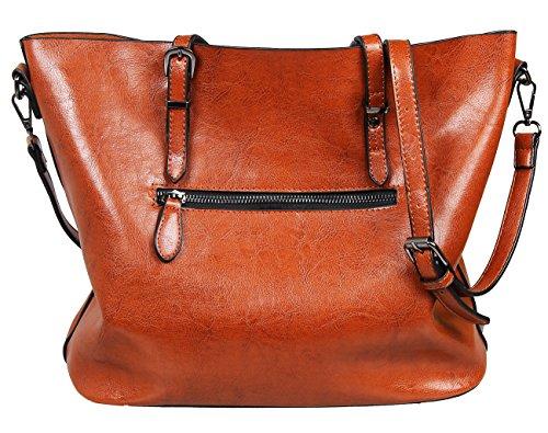 SQLP Neu DamenTasche Europäische Stil Handtasche Einfach Henkel Tasche Elegant wasserdichte Handtasche Kunstleder Schultertasche RiHW07RMQt