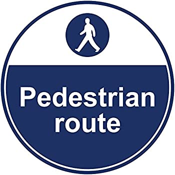 Amazon com : Pedestrian Route Blue Anti-Slip Floor Sticker