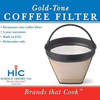 Amazon Com Gold Tone 2 Permanent Cone Coffee Filter