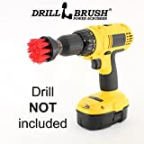 2 inch Diameter Small Round Drill Powered Stiff Scrub Brush Attachment for Heavy Duty Cleaning