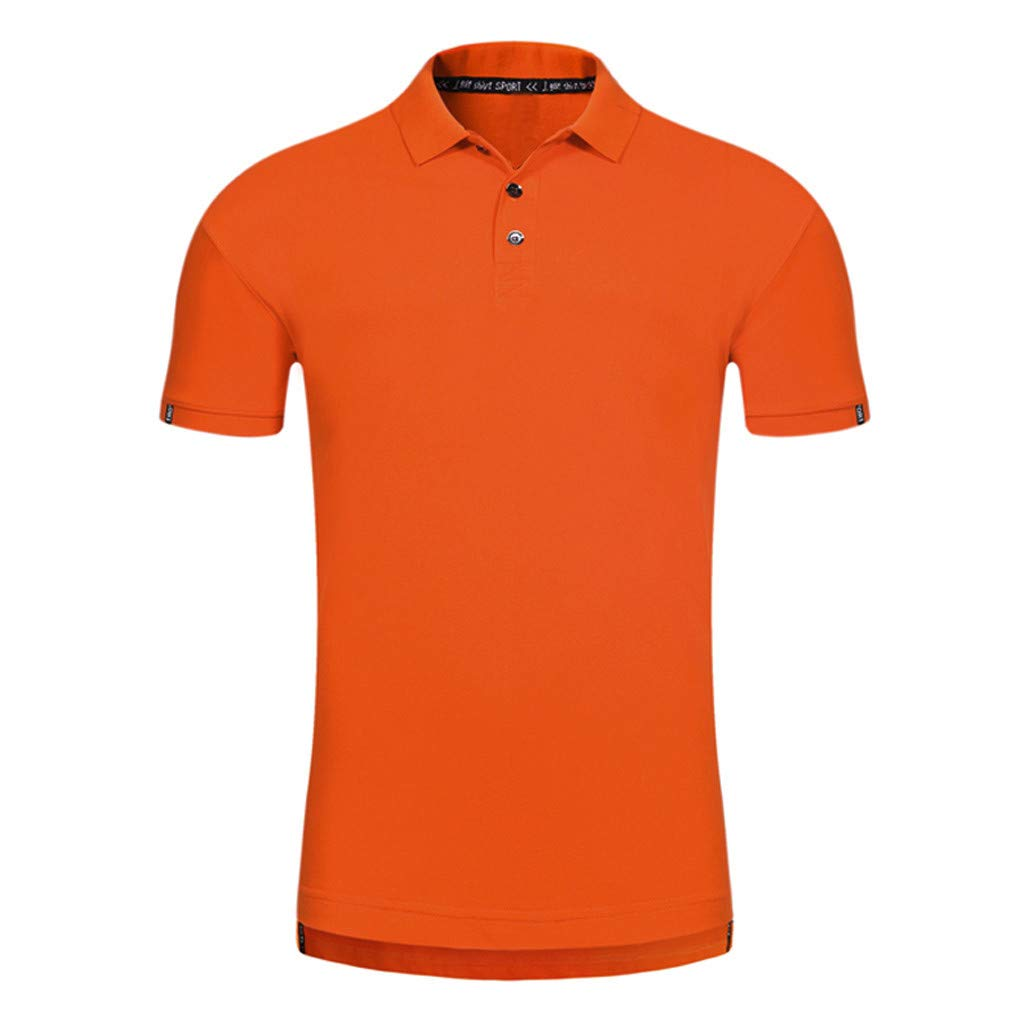 BOOMJIU Mens Perfect Slim Fit Short Sleeve Soft Fitted Polo Shirt (Variety Color)