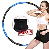 ABDQPC Hula Hoop for Adult,Fitness Exercise Weighted Hula Hoop, 8 Stitching Fitness Equipment with Waist Trainer Belt Hoop