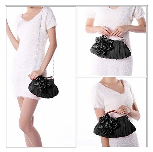 Black Bridal Purse Party Handbag Women Purse Satin Envelope Newest Evening Clutch Wedding Shoulder WeiSocket Bag ngwx61q40X