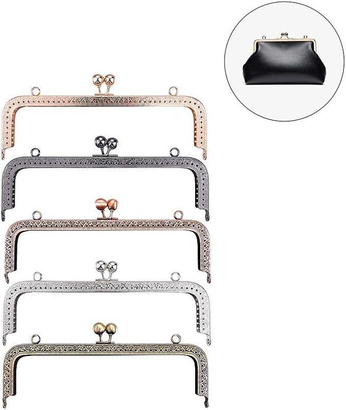 20,5 cm Set di 5 ganci per borsetta quadrati in metallo 5 colori Yeenee