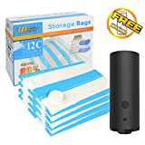 Travel Vacuum Storage Bags with Electric Pump,VMSTR Large Medium Space Saver Bags for Travel and Home Use
