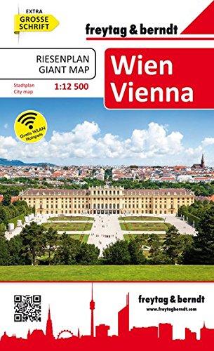 Wien Riesenplan Stadtplan Buch 1 12.500 Freytag And Berndt Stadtpläne
