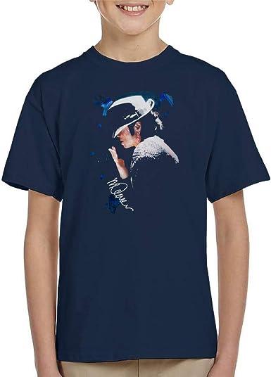 VINTRO Camiseta de Michael Jackson con Punta de Sombrero Niños Original Portrait por Sidney Maurer: Amazon.es: Ropa y accesorios