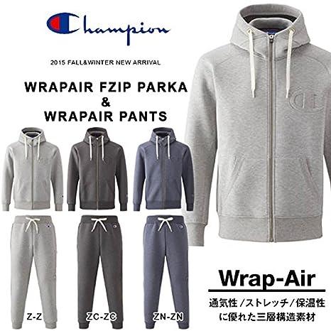 0642cd7d5e3f97 Amazon | Champion(チャンピオン) スウェット 上下 セット WRAP-AIR FZIP PARKA PANTS ビッグロゴ メンズ  Oサイズ ミックスネービー-ミックスネービー ...