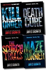 Maze Runner Trilogy Collection James Dashner 4 Books Set (The Scorch Trials, The Maze Runner, Death Cure, The Kill Zone)