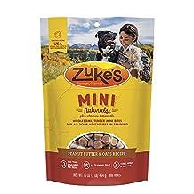 Zuke's Pet Nutrition Mini Naturals Dog Treats, Fresh Peanut Butter Formula, 16-Ounce