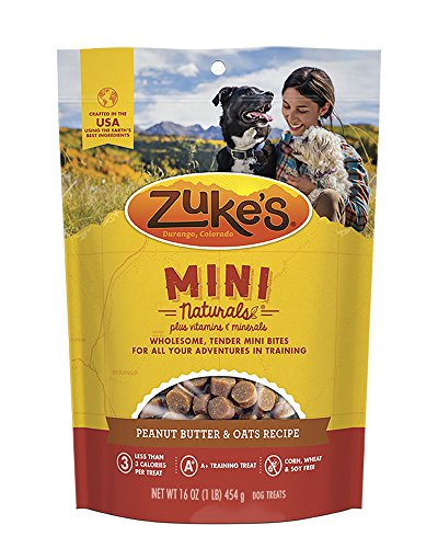 Zuke's Mini Naturals Peanut Butter & Oats Recipe Dog Treats – 16 oz. Pouch