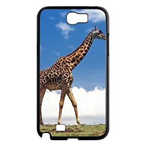 DIY Cover Case with Hard Shell Protection for Samsung Galaxy Note 2 N7100 case with Giraffe lxa#991524