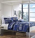 Eddie Bauer Eastmont 3-Piece Cotton Reversible Quilt Set, King