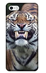 Sangu Tiger Roar Cross Print in Hard Back Shell Case / Cover for Iphone 5 and 5s(Style24)