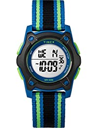 Timex Kids TW7C26000 Time Machines Digital 35mm Blue/Black/Green Double-Layered Nylon Strap Watch