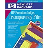 HP Premium InkJet Transparency Film 40 Sheets (C3834A)