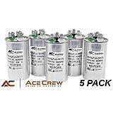 5PK 50/5 Dual Run Capacitor Premium Quality 440 VAC uf MFD ==