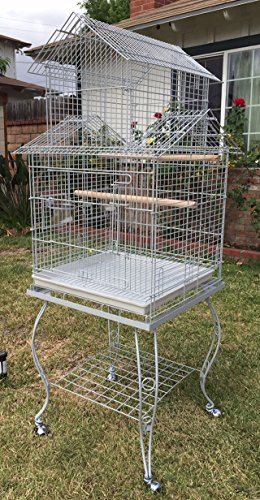 Large 20-Inch Pagoda House Roof Top Parrot Lovebird Cocka...