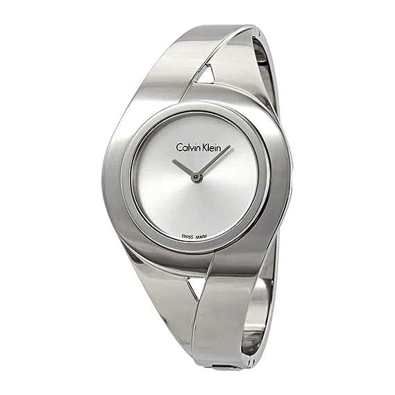 Calvin Klein Reloj Analogico para Mujer de Cuarzo con Correa en Acero Inoxidable K8E2M116: Amazon.es: Relojes