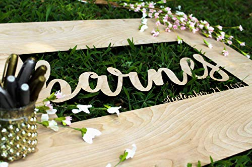 Guestbook sign, wedding signs, guestbook wedding,guestbook alternative,3d guestbook, sign board,last name signs for wedding - Naked Wood Works