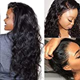 Suerkeep Brazilian Body Wave Lace Front Human Hair Wigs with Baby Hair 130% Density Body Wave Lace Frontal Wigs Human Hair Pre Plucked Glueless Lace Frontal Wigs Human Hair Wigs 26inch