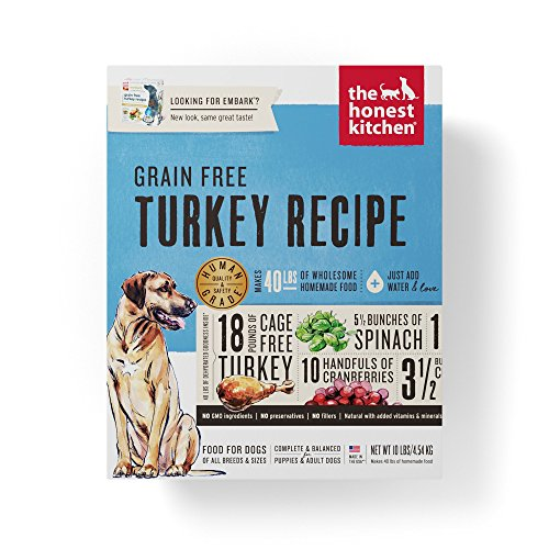 Honest Kitchen The Grain Free Turkey Dog Food Recipe, 10lb box (Package May Vary)