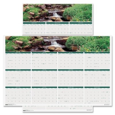 Earthscapes Waterfalls of the World Reverse/Erase Yearly Wall Calendar, 24 x 37, 2012 ()