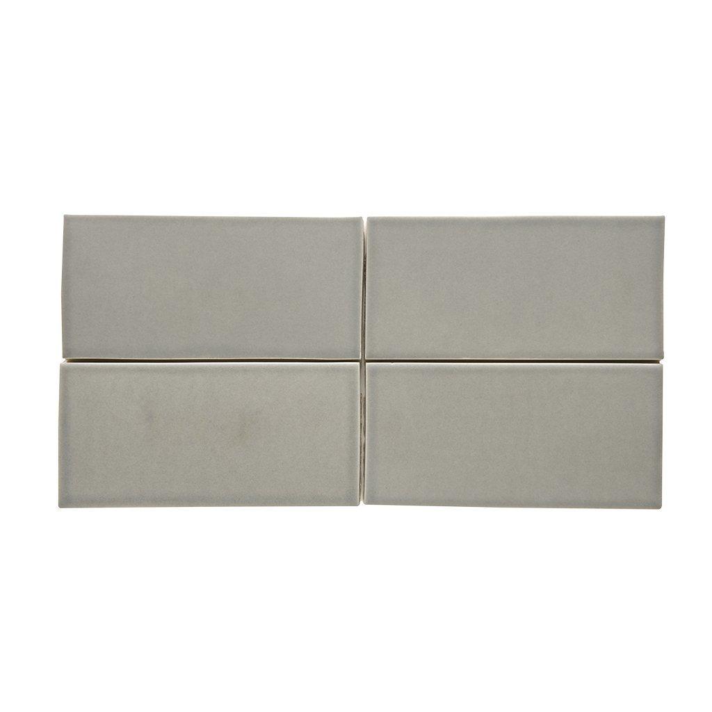 Waterworks Architectonics Field Tile 3 x 6 Bullnose Single (Long) in Gray Matte