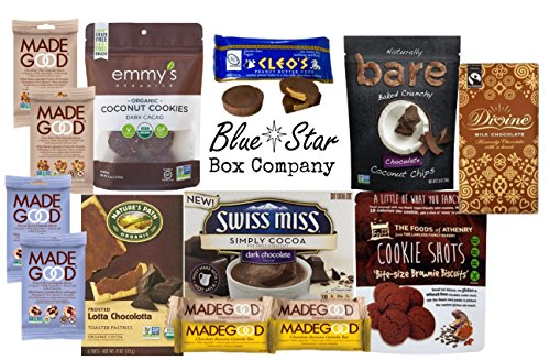 Soy Free Chocolate Lovers Snack Box - Perfect for School Lunches or College Care Package, Combination of Full Size and Single Serving Quality Items