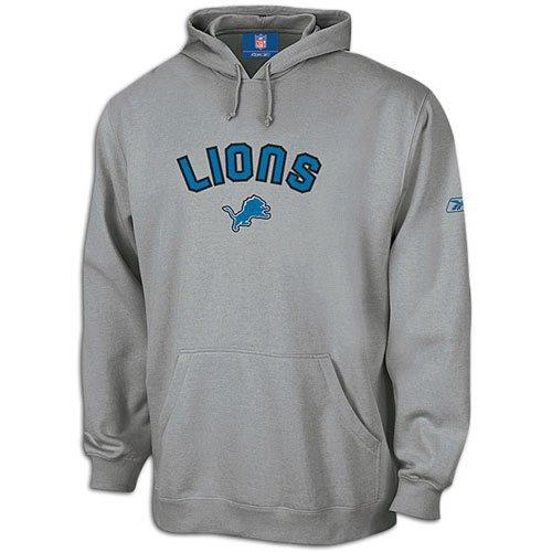 Hooded Fleece Reebok Nfl (Lions Reebok Men's NFL Playbook Hoody ( sz. L, Grey : Lions ))