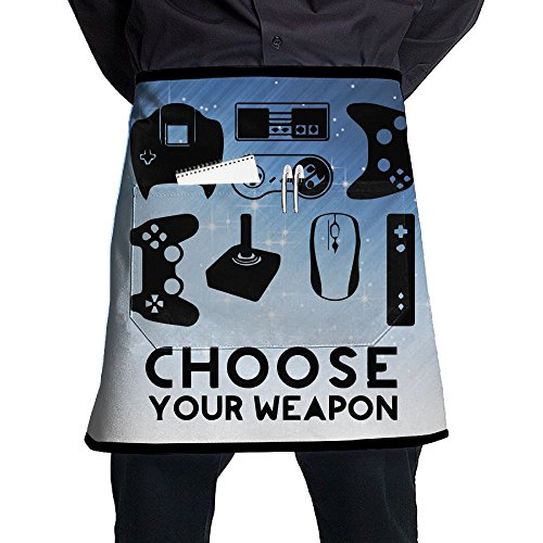 XiHuan Grill Aprons Kitchen Chef Bib Choose Your Weapon Gamer Shirt Video Game Professional For BBQ Baking Cooking For Men Women - Hawkeyes Iowa Set Apron