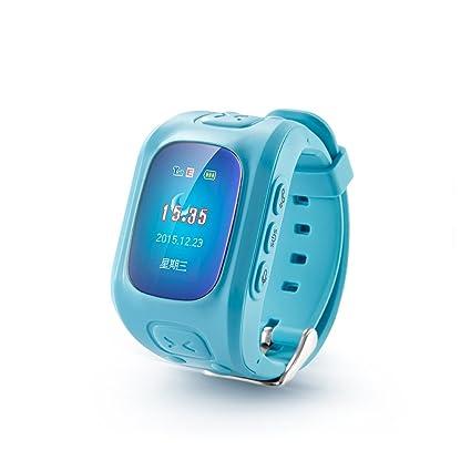 Tomlov Niños Relojes inteligentes GPS + LBS + WIFI Tracker Posición Anti-perdida reloj de