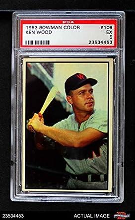 Amazoncom 1953 Bowman 109 Ken Wood Washington Senators Baseball
