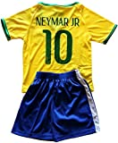 FWC 2014 Neymar Jr 10 Brazil Brasil Futbol Football Soccer Jersey & Short (12-13 years)