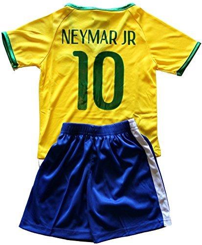 FWC 2014 Neymar Jr 10 Brazil Brasil Futbol Football Soccer Jersey & Short (8-9 years) (Oscar Jersey Youth Soccer)