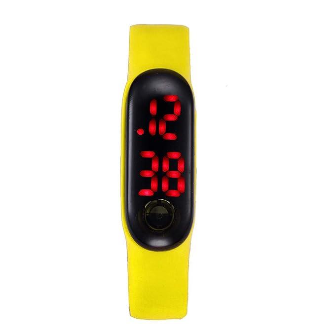 Pulsera Deportivos BBestseller Pulsera Inteligente Impermeable Reloj electronico Relojes Hombre Digitales Podómetro Smartwatches (Amarillo): Amazon.es: Ropa ...