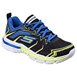 Skechers Childrens Boys SK95356L Nitrate Ultra Blast Sports Shoes/Trainers (13.5 US Junior, Black Blue)