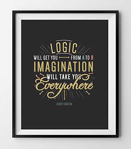 Logic Will Get You From A To B Imagination Will Take You Everywhere Motivational And Inspirational Poster Handmade