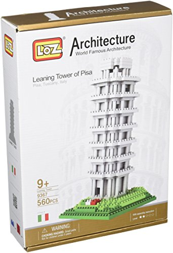 LOZ Building & Construction 9367 Leaning Tower Of Pisa Building Blocks (560 Piece) - Leaning Tower Of Pisa