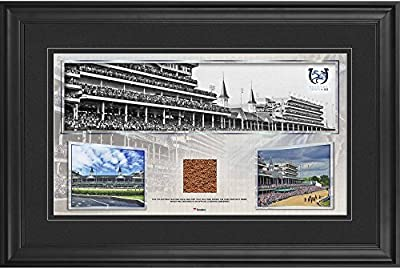 """Kentucky Derby 143 Framed 10"""" x 18"""" Event Pano with Race-Used Dirt from the 143rd Kentucky Derby - Fanatics Authentic Certified"""