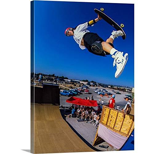 GREATBIGCANVAS Gallery-Wrapped Canvas Entitled Christian Hosoi in The air at Vans Skatepark in California by Sean Sullivan - Hosoi Skateboard Skates