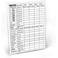 "Large Yardzee Score Card with Rules on the Back, 8.5"" X 11"" Laminated Yardzee Score Card, Big Reusable Scorecard, Dry Erase score sheet for Giant Outdoor Dice Games, Jumbo Score Sheet for Yahtzee"