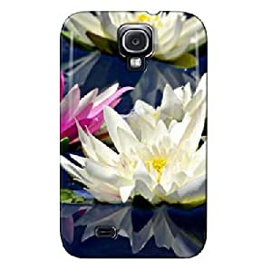 TPU Flower Fantasy Flower Fantasy Navy Protective Hard Case For Sumsang Galaxy S4 Shock Absorption