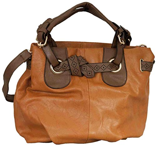 Clayre & Eef BAG154 Custodia borsa in ecopelle marrone ca, 37 x 34 cm