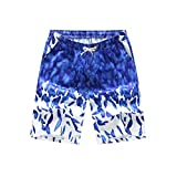 Hot Cken Couple Lovers Men's Women's Soft Swim Board Short Dry ?Bathing Suit with Pockets Feather