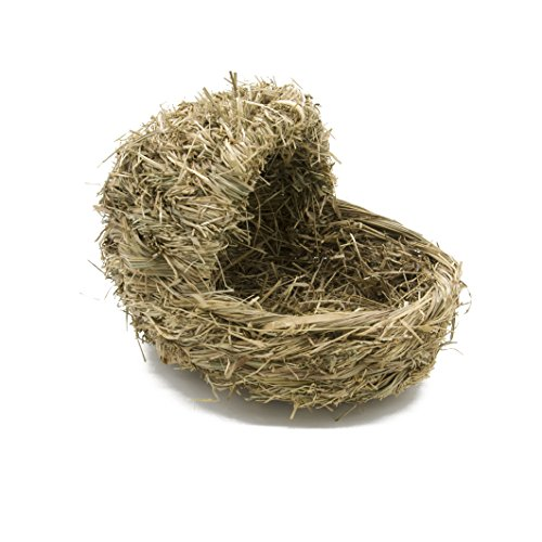 Handmade Woven Grass Warm House for Pets Rabbits Lounge by Flying Spoon