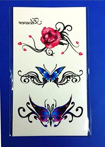 GYMNLJY Tattoo Aufkleber Abnehmbare wasserdichte Männer und Frauen temporäre Tattoos Body Art Sticker (20 Blatt Pack) , 10.5*6cm